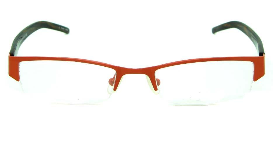 red blend rectangular glasses frame   HL-DS2057-61