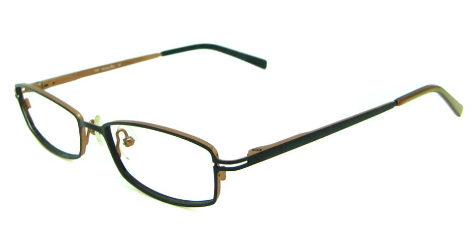 tea metal rectangular  glasses frame  HL-238-3
