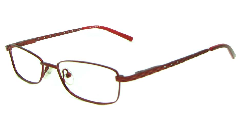 red metal rectangular glasses frame  HL-258-2