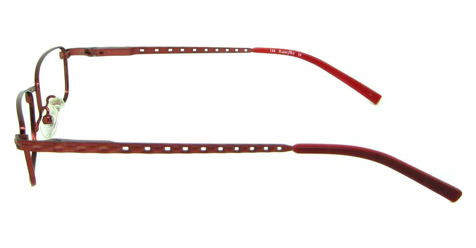 red metal rectangular glasses frame  HL-258-2