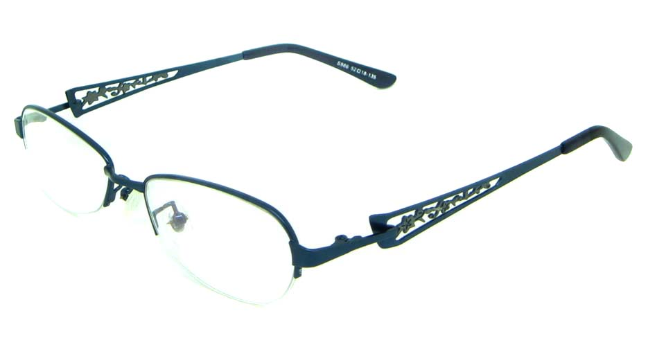 blue oval metal  glasses frameHL-S986-L