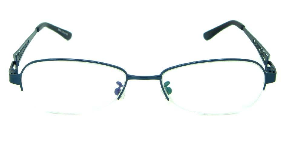 blue oval metal  glasses frameHL-S986-L