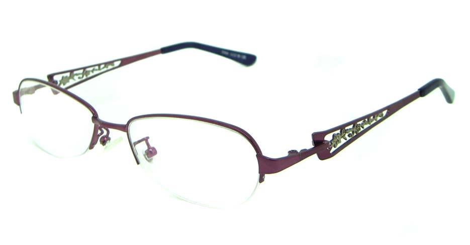 pink oval metal glasses frame HL-S986-ZS