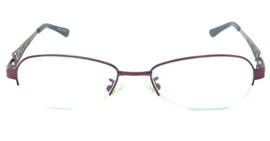 pink oval metal glasses frame HL-S986-ZS