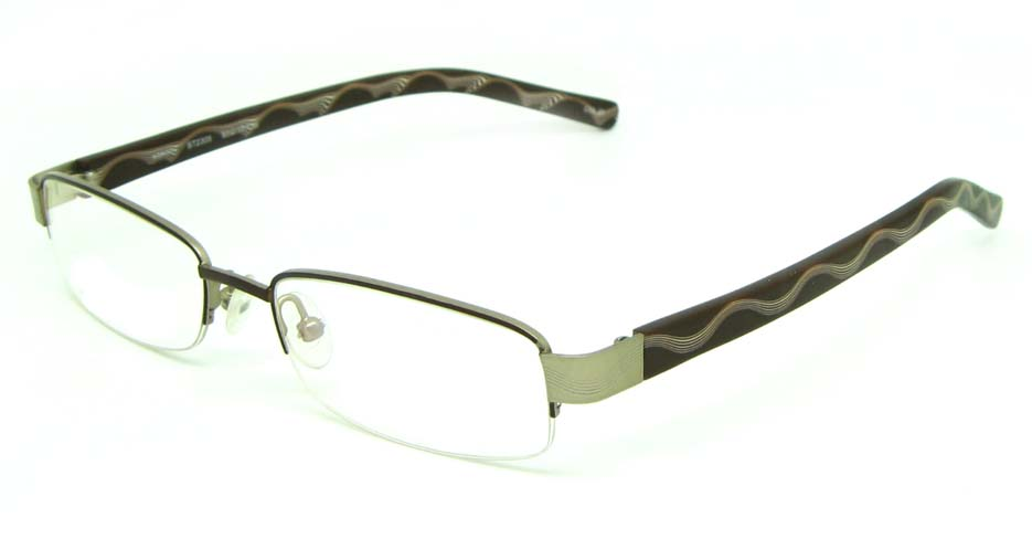 brown blend rectangular   glasses frame HL-ST2305-20