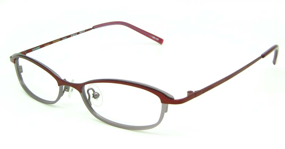 wine metal oval  glasses frame HL-ST2212-225