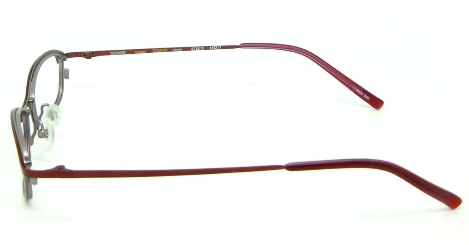 wine metal oval  glasses frame HL-ST2212-225