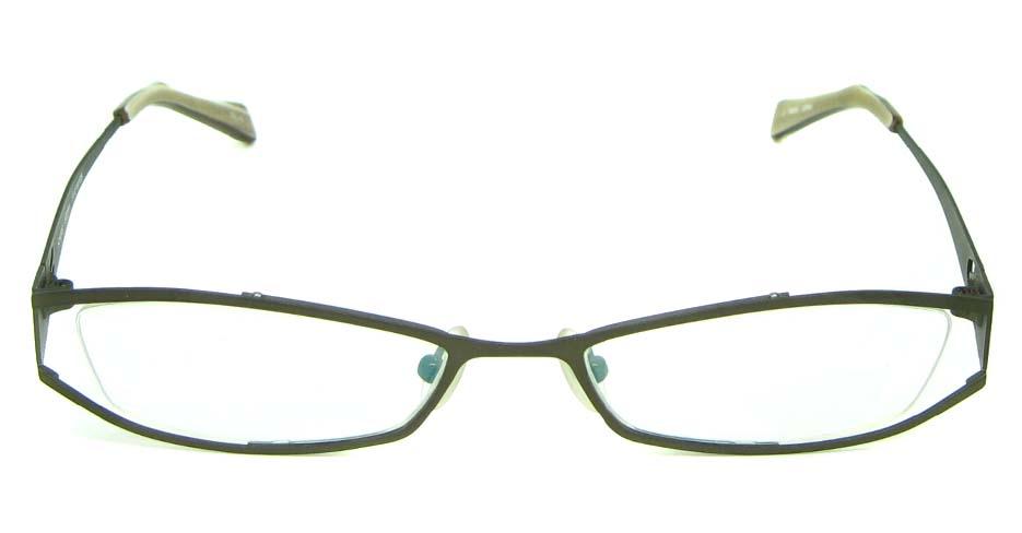 grey metal oval  glasses frame HL-ST2181-10