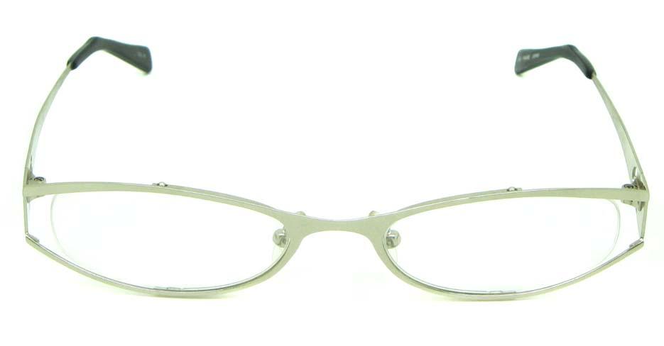 white metal oval glasses frame HL-ST2172-18