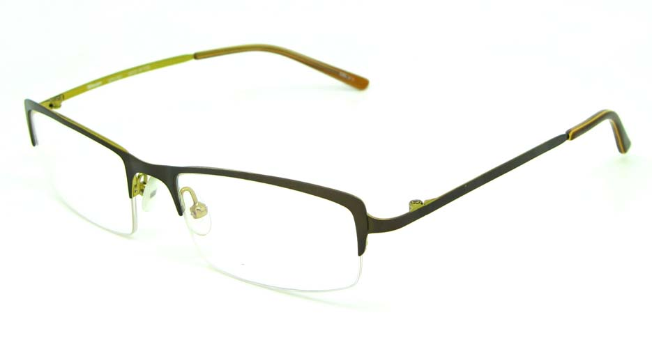 khaki metal rectangular glasses frame  HL-ST2161-213