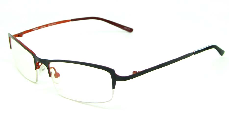 black metal rectangular glasses frame  HL-ST2161-212