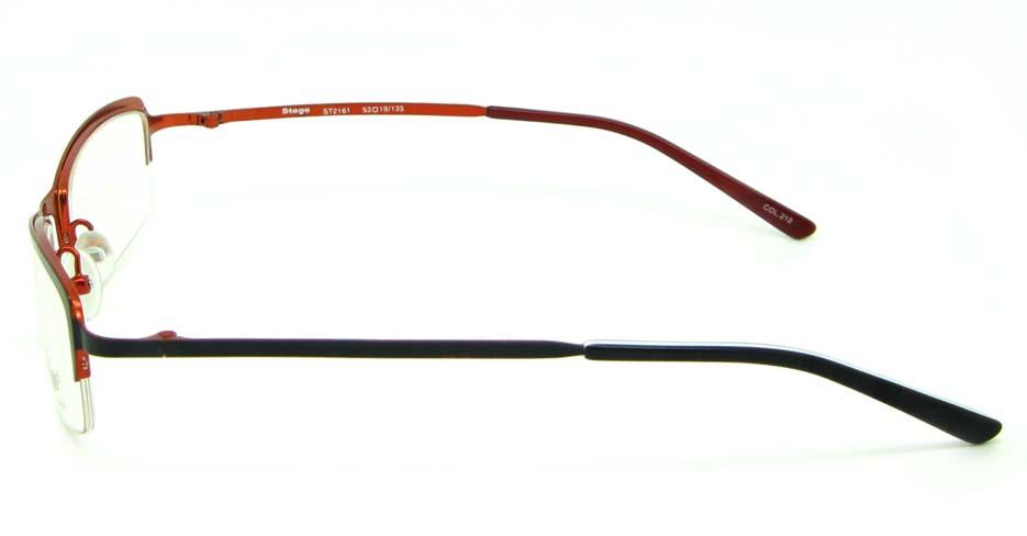 black metal rectangular glasses frame  HL-ST2161-212