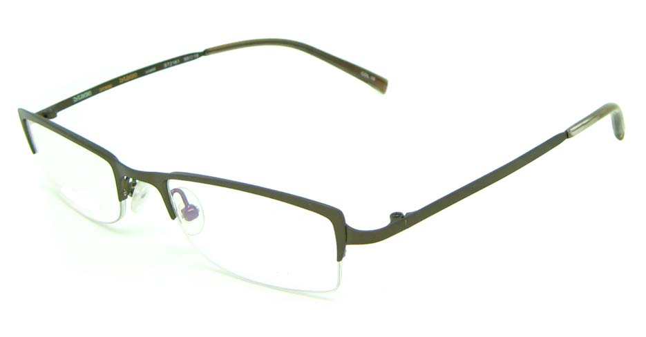 khak metal rectangular glasses frame  HL-ST2161-10