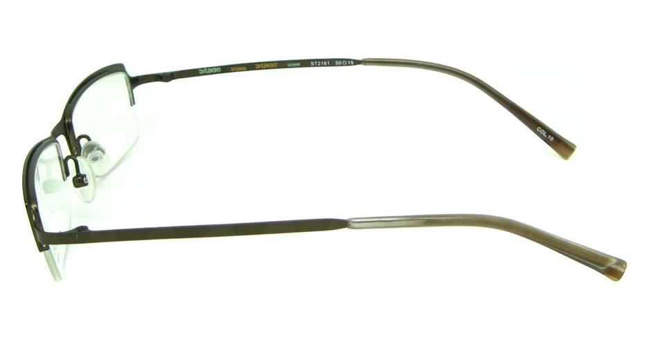 khak metal rectangular glasses frame  HL-ST2161-10