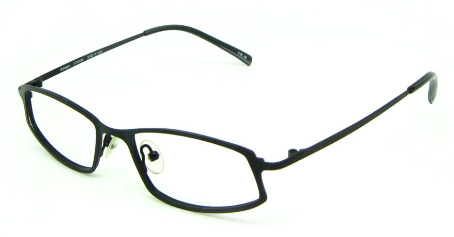 black metal rectangular glasses frame HL-ST2088-06