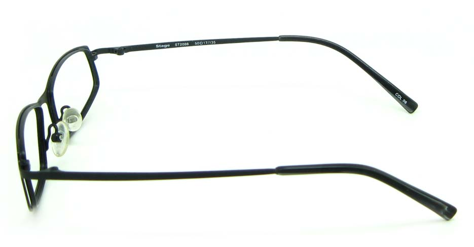 black metal rectangular glasses frame HL-ST2088-06