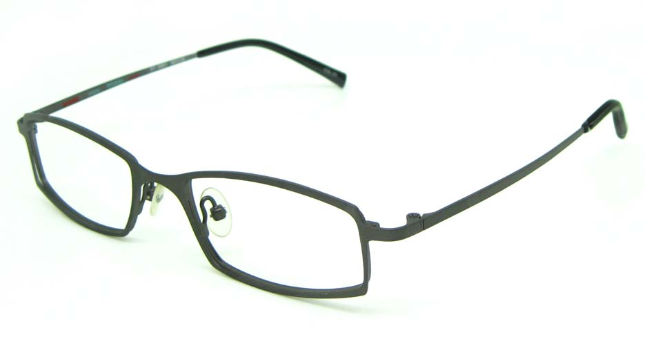 grey metal rectangular glasses frame HL-ST2087-29