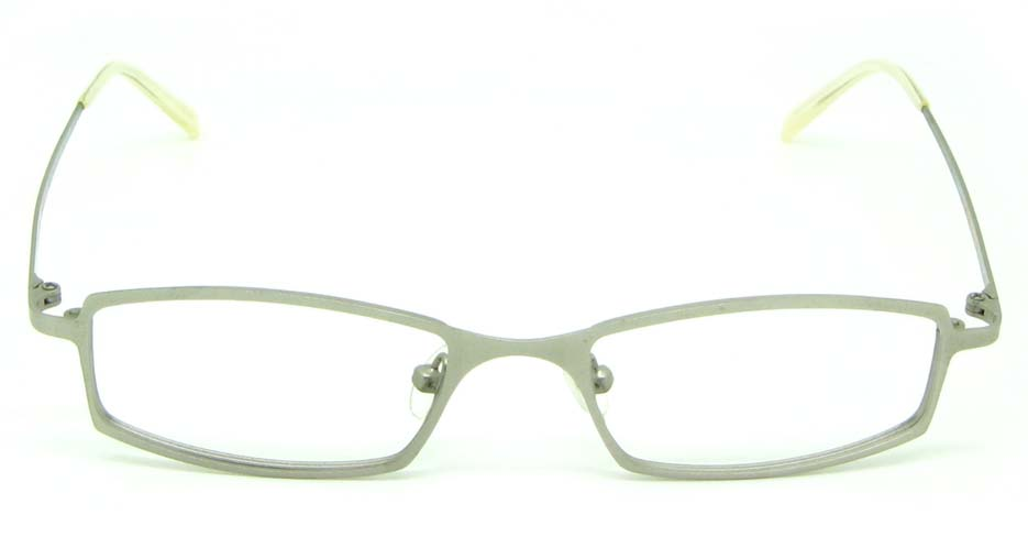grey metal rectangular glasses frame HL-ST2087-C09