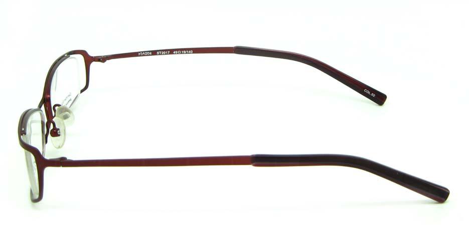 wine metal rectangular glasses frame     HL-ST2017-02