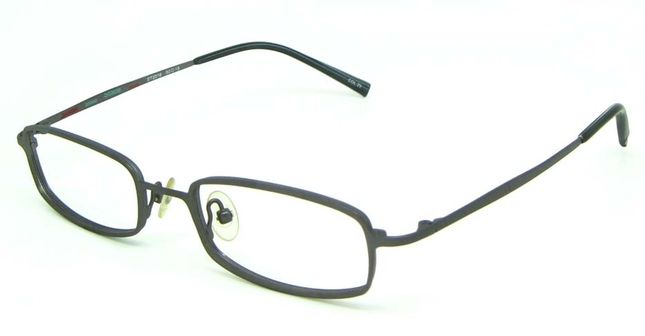 black metal rectangular glasses frame  HL-ST2016