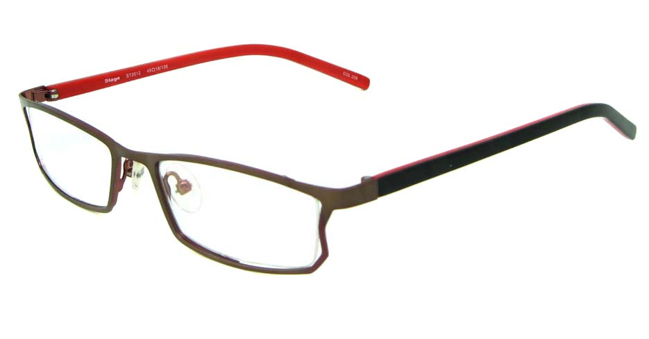 khaki red black blend rectangular glasses frame  HL-ST2012-226