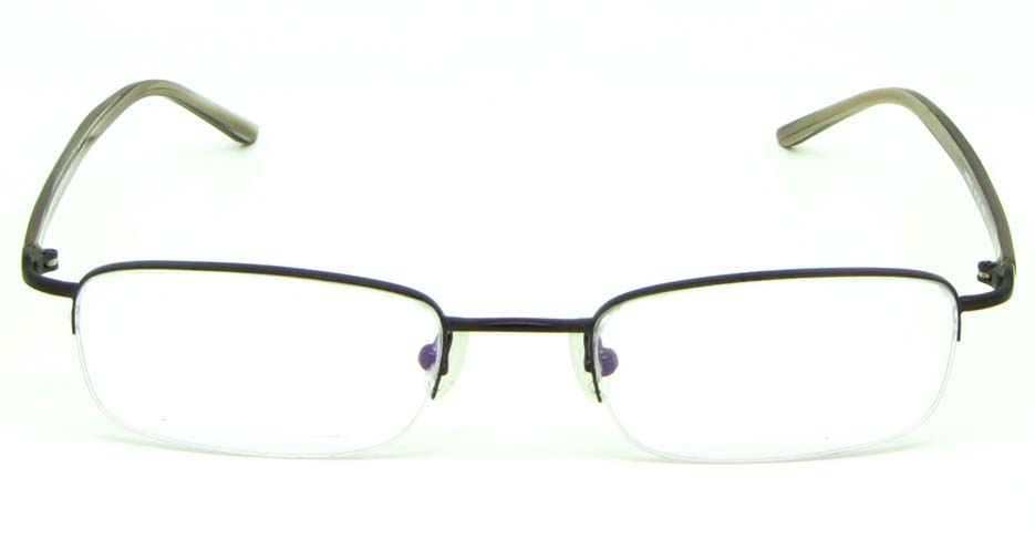 brown blend rectangular  glasses frame  HL-HY55182-MBR