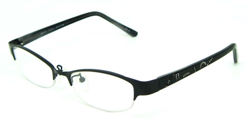 black blend rectangular   glasses frame HL-ST2433-06