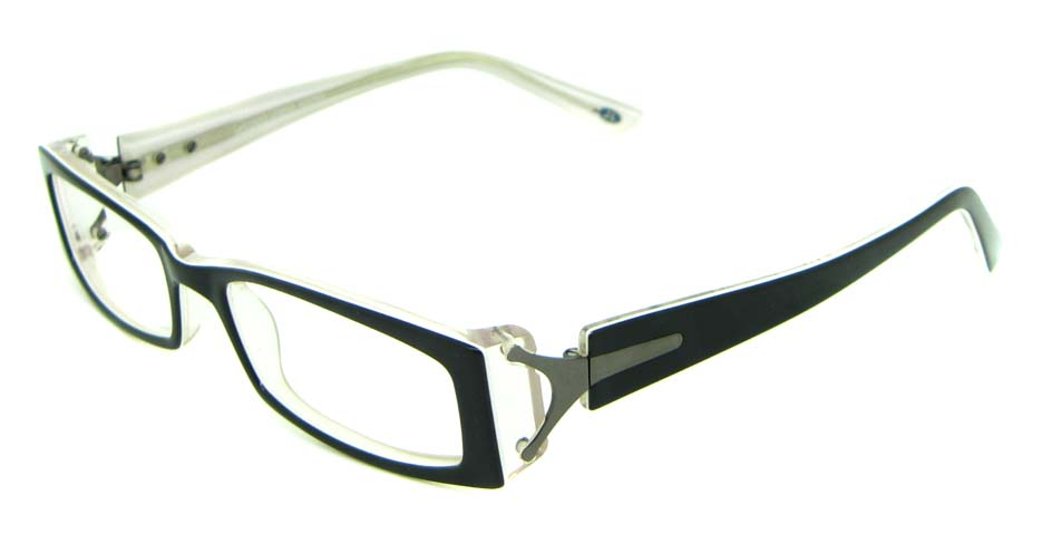 black acetate rectangular glasses frame   HL-JL5497-C