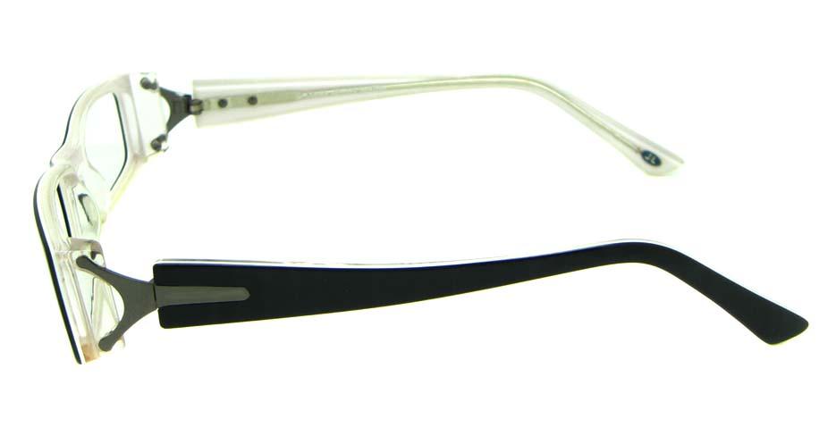 black acetate rectangular glasses frame   HL-JL5497-C