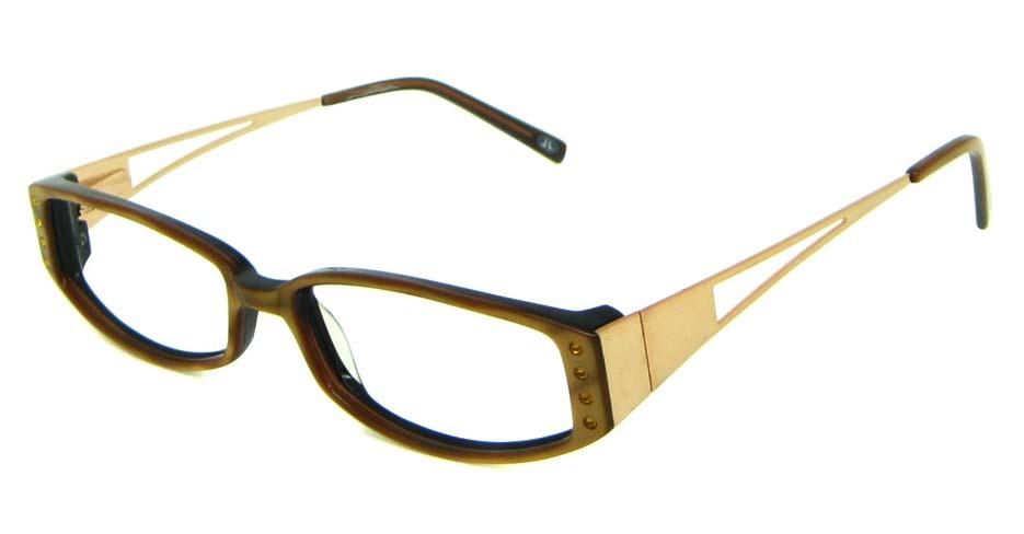tea blend rectangular glasses frame     HL-JL5473-A