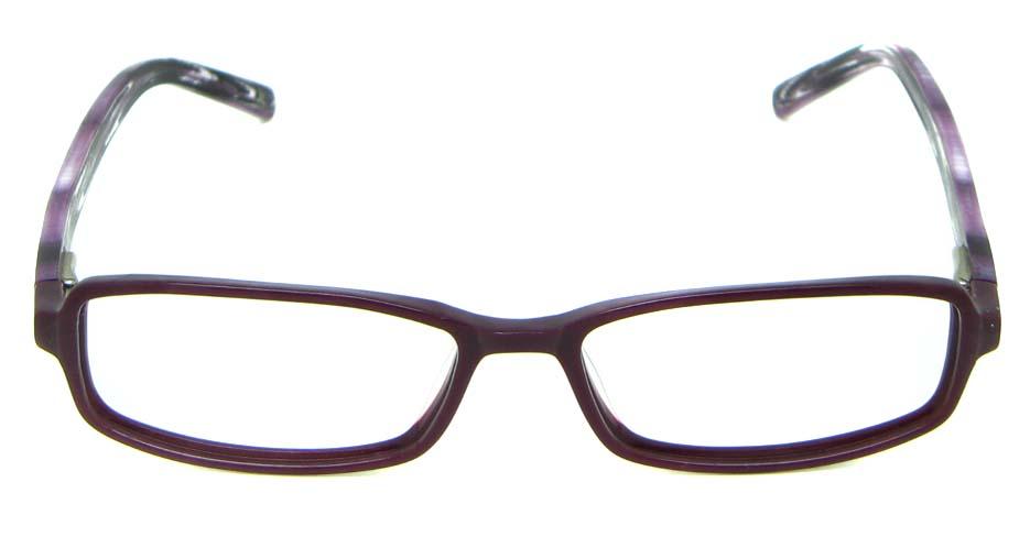 Purple Acetate Rectangle glasses frame HL-JL5464-C