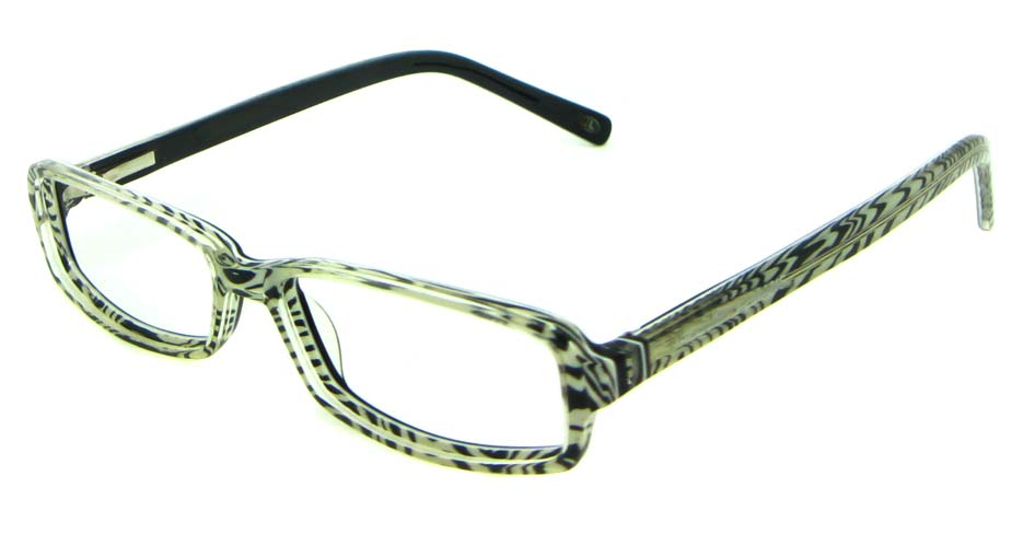 black acetate rectangular glasses frame   HL-5411-C