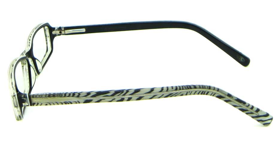 black acetate rectangular glasses frame   HL-5411-C