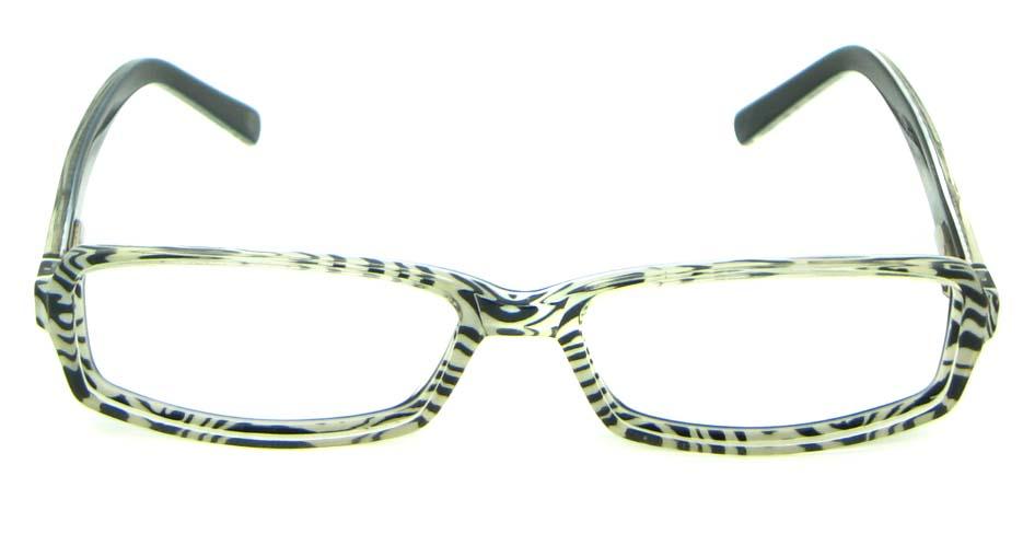 black with green acetate rectangular glasses frame   HL-5411-E