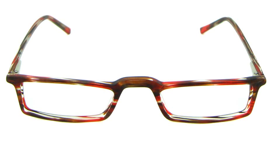 brown with wine acetate rectangular glasses frame HL-JL0017-A