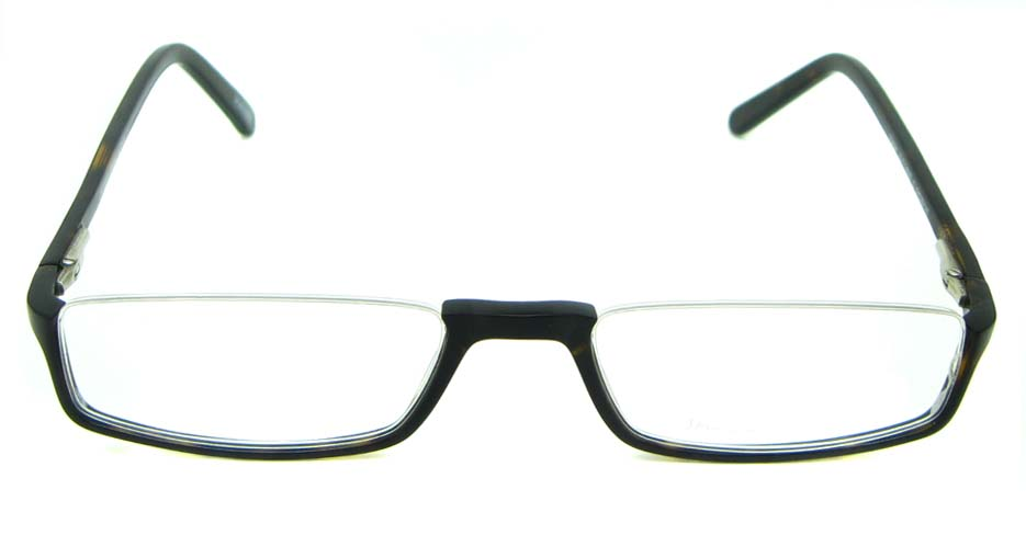 Tortoise with balck acetate rectangular glasses frame HL-0015-C