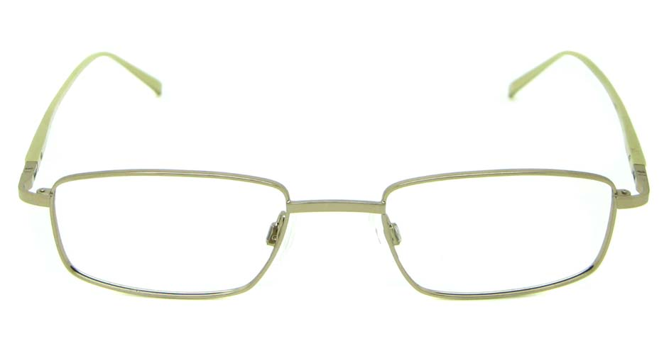 Khaki metal rectangular glasses frame  HL-UR8673-C3