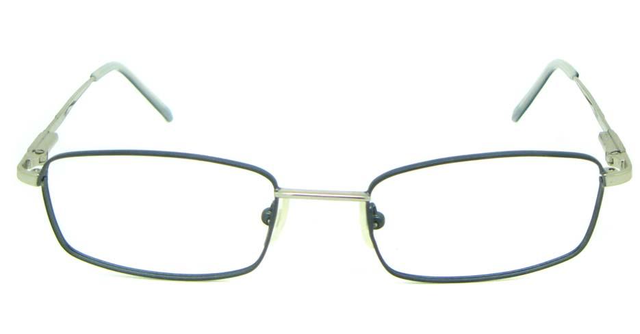 white metal oval glasses frame   HL-1757-002