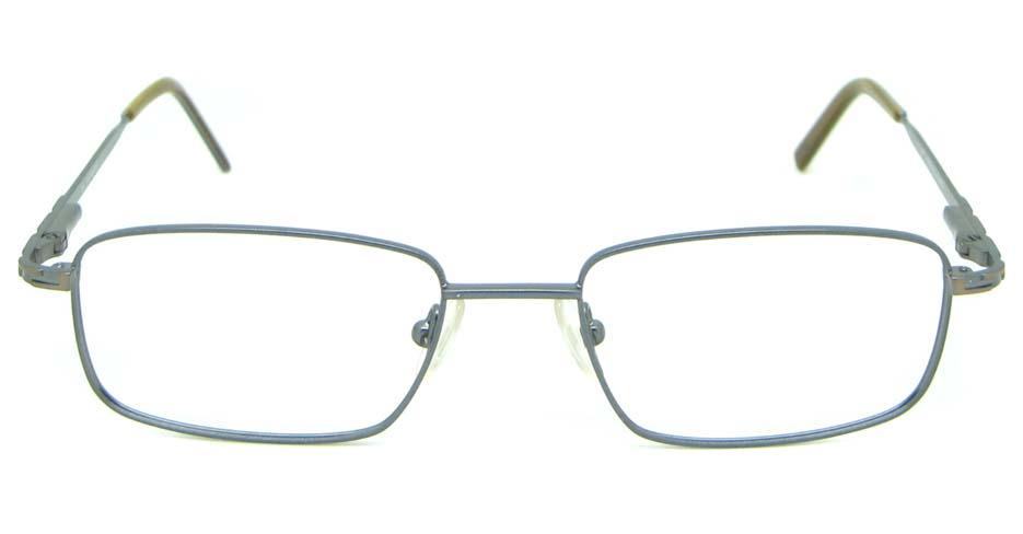 grey metal oval glasses frame HL-1755-002