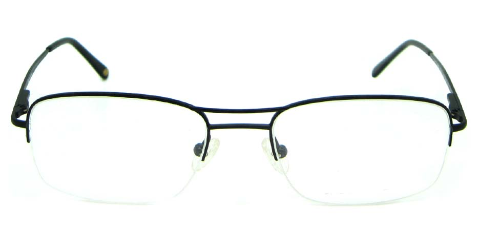 black metal oval glasses frame   HL-JL2000-D