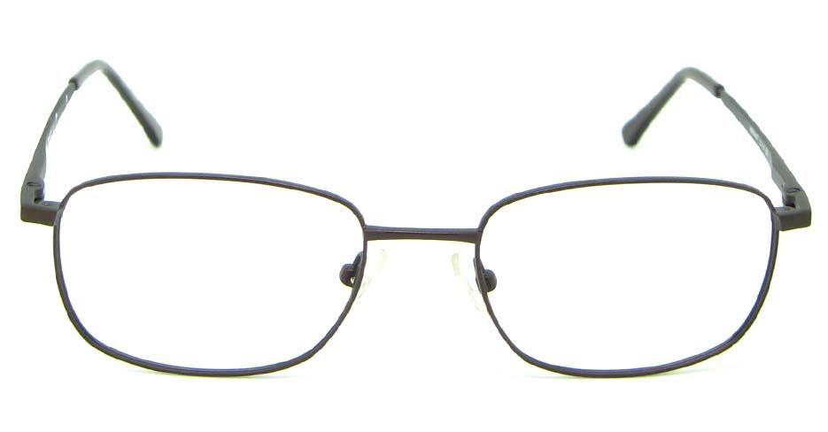 brown metal oval glasses frame  HL-HM55427-BR