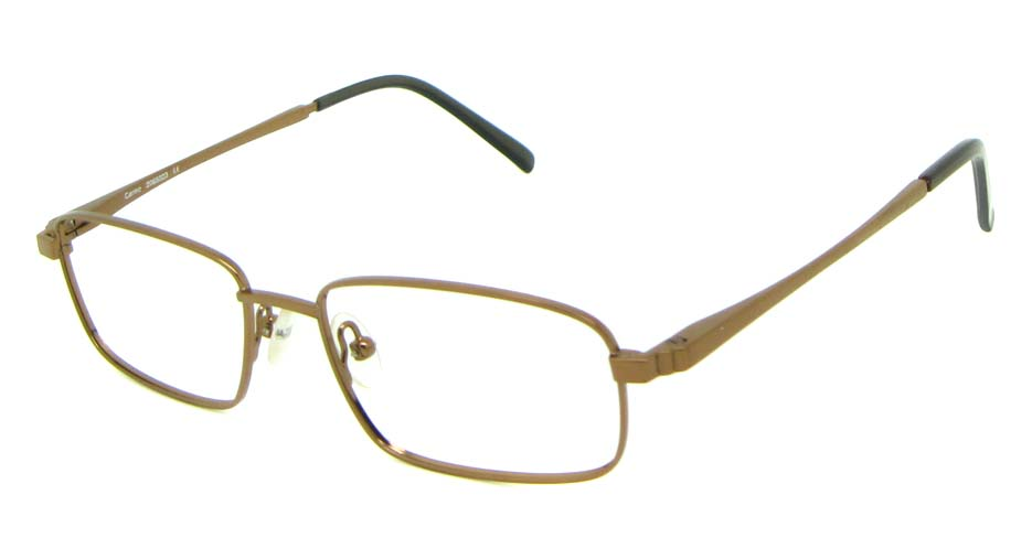 khaki metal rectangular  glasses frame HL-HM55426-BR