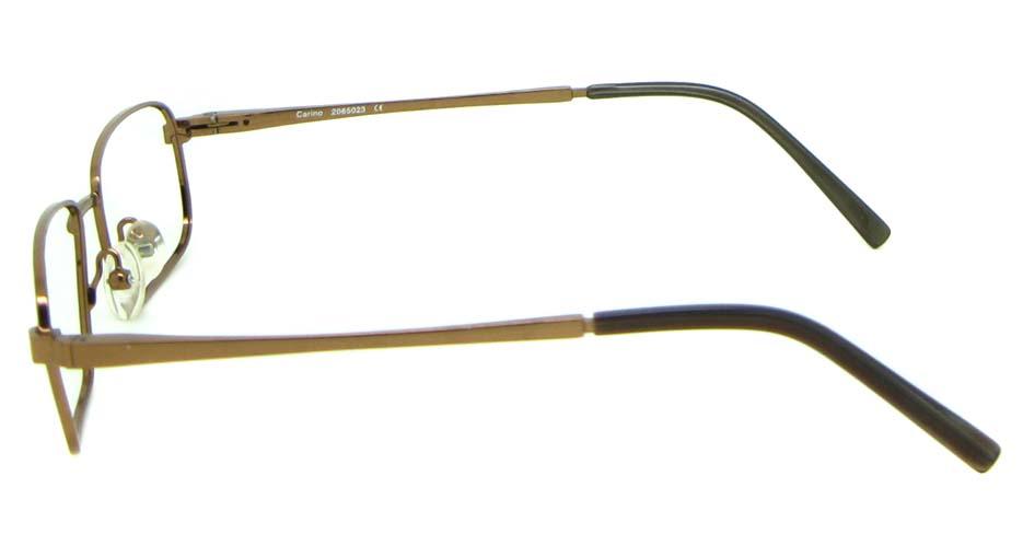 khaki metal rectangular  glasses frame HL-HM55426-BR