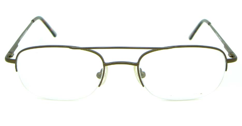 brown metal oval glasses frame  HL-BL14KT