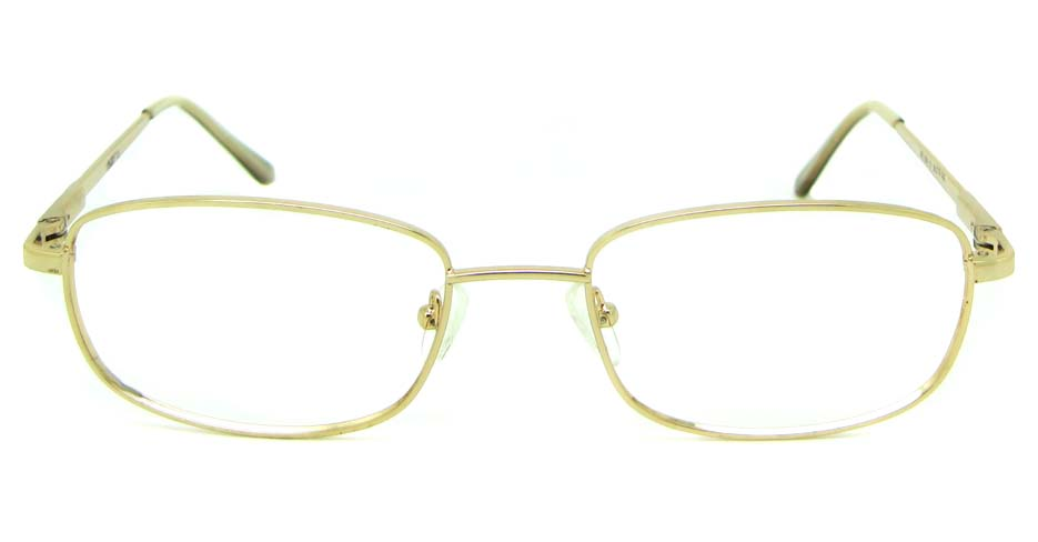 khaki metal oval glasses frame  HL-AE805-C1