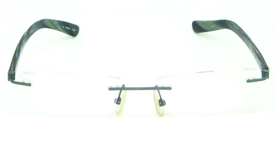 green blend rectangular   glasses frame  HL-MOD102-C68