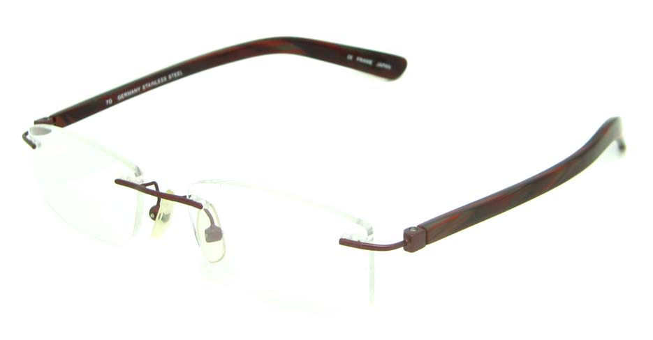 burgundy blend rectangular glasses frame    HL-MOD105-C69