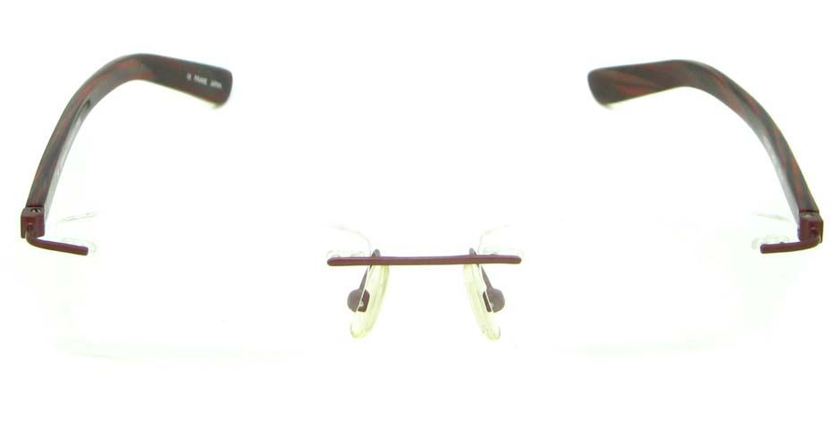 burgundy blend rectangular glasses frame    HL-MOD105-C69