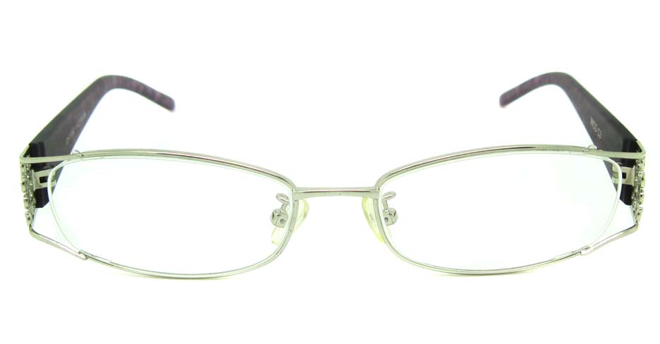 silver with brown blend rectangular glasses frame  JS-JDH200821-c3