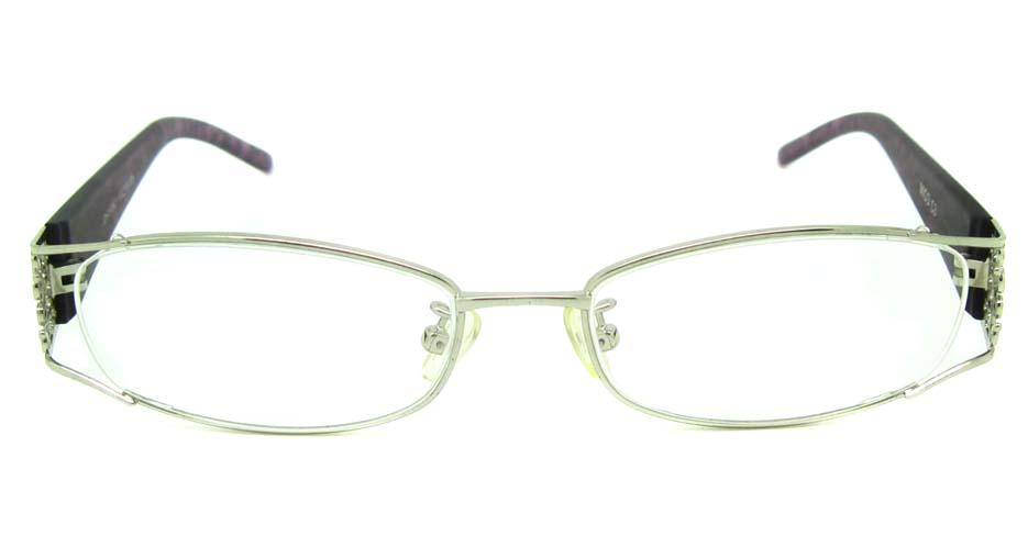 silver with brown blend rectangular glasses frame  JS-JDH200821-c3